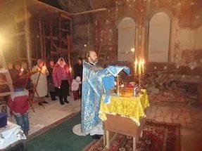 Служба в Храме 14 октября 2015